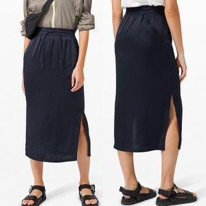 Lululemon Glide Away Slip Skirt - True Navy